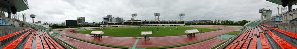 Panorama of the CocaColaWest Stadium Hiroshima, click for bigger view - stefanole